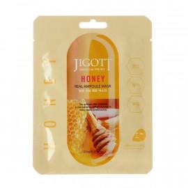 Маска тканинна для обличчя JIGOTT Honey Real Ampoule з екстрактом меду 27мл.