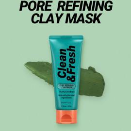 Глиняна маска для очищення пор на основі зеленого чаю Eunyul Clean & Fresh Pore Refining Clay Mask 100 мл.