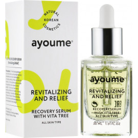 Вітамінна сироватка з екстрактом обліпихи і зеленого чаю - Ayoume Revitalizing And Relief Recovery Serum With Vita Tree - 30 мл