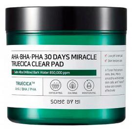 Кислотні педи для проблемної шкіри Some By Mi AHA BHA PHA 30 Days Miracle Truecica Clear Pad 70 шт.