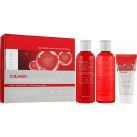 Набір для обличчя на основі колагену FarmStay Collagen Essential Moisture Skin Care 3 Set