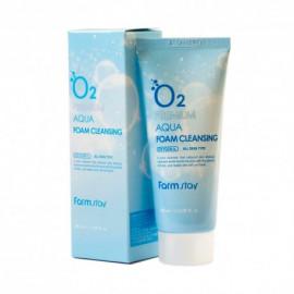 Киснева пінка для вмивання FarmStay O2 Premium Aqua Foam Cleansing  100 мл.