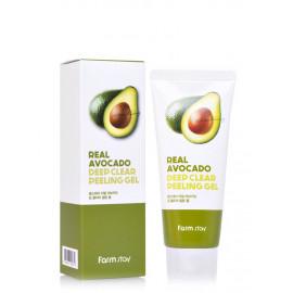 Глибоко очищувальний пілінг-гель для обличчя FarmStay Real Avocado Deep Clear Peeling Gel  100 мл