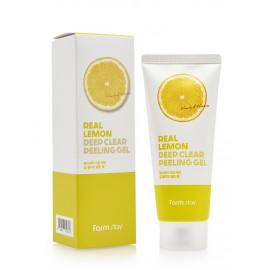 Глибоко очищувальний пілінг-гель для обличчя FarmStay Real Lemon Deep Clear Peeling Gel  100 мл