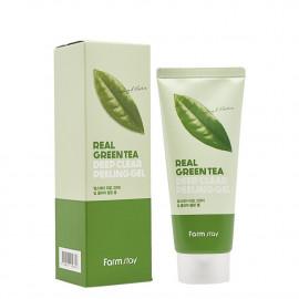 Глибоко очищувальний пілінг-гель для обличчя FarmStay Real Green Tea Deep Clear Peeling Gel  100 мл