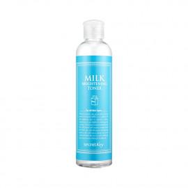 Пом'якшувальний тонер для обличчя з молочними протеїнами Secret Key Milk Brightening Toner  248 мл