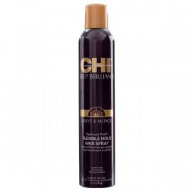Лак для волосся гнучкої фіксації CHI Deep Brilliance Olive & Monoi Op FlexHold  248 г.