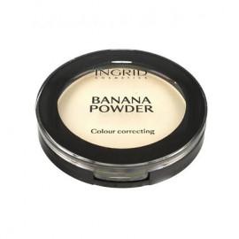 Бананова пудра для обличчя Ingrid Cosmetics Banana Powder Color Correcting  10 г.