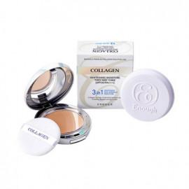 Відбілювальна пудра для обличчя зволожуюча з колагеном 3 в 1 Enough Collagen Whitening Moisture Two Way Cake SPF 30 PA+  №21