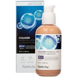 Колагеновий тональний крем FarmStay Collagen Water Full Moist Luminous Foundation SPF15  №21 100 мл