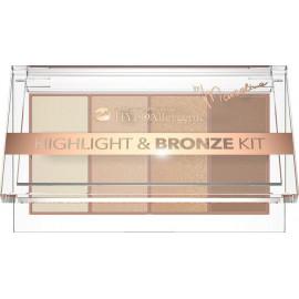 Палетка для макіяжу Bell Cosmetics HypoAllergenic Highlight & Bronze Kit by Marcelina №: 01
