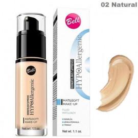 Гіпоалергенний тональний флюід 02  Bell Cosmetics HypoAllergenic Mat & Soft Make-Up  30 грам